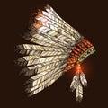 Indian Tribal Headdress Royalty Free Stock Photo