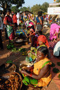 Indian Tribal Market Royalty Free Stock Images