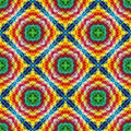 Indian tribal pattern trendy and fashionable textile texture with spiritual motifs seamless in vivid and lucid colors Royalty Free Stock Images