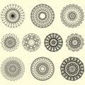 Indian vector and decorative set of mandala