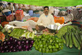 Indian vegetable vendor Royalty Free Stock Photography