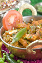 Indian vegetarian dish, Mattar paneer Royalty Free Stock Image