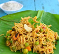 Indian vermicelli is special south food made of semolina and vegetables Stock Photography