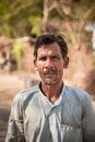 Indian villager man Royalty Free Stock Photo