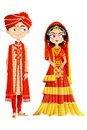 Indian wedding couple easy to edit vector illustration of Royalty Free Stock Photos