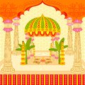 Indian wedding mandap vector illustration of stage Stock Photo