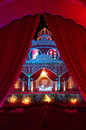 Indian wedding stage mandap a beautiful shot at a ceremony at night in city palace jaipur india Royalty Free Stock Images