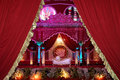 Indian wedding stage mandap a beautiful shot at a ceremony at night in city palace jaipur india Stock Photos