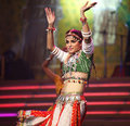 Indian woman dancer Royalty Free Stock Image