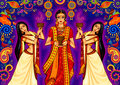 Indian woman doing dhunuchi dance of Bengal during Durga Puja Dussehra celebration in India Royalty Free Stock Photo