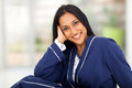 Indian woman portrait of young in pajamas at home Royalty Free Stock Image