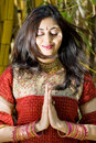 Indian woman pray Royalty Free Stock Photo