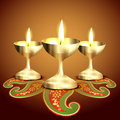 Indian worship lamp Royalty Free Stock Image
