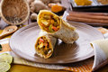 Indian wrap paneer tikka Royalty Free Stock Photo