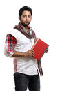 Indian young with book Royalty Free Stock Photography