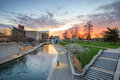 Indiana State Museum at sunset Royalty Free Stock Photo