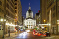 Indiana Statehouse At Night Wi...