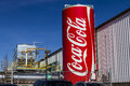 Indianapolis - Circa February 2017: Giant Can of Coca Cola adorns a Bottling Plant XII