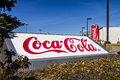 Indianapolis - Circa February 2017: Giant Can of Coca Cola adorns a Bottling Plant XIII