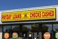 Indianapolis - Circa June 2017: CheckSmart Payday Loan Location. CheckSmart is an emergency cash advance company I Royalty Free Stock Photo