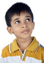 Indianina little boy przyglądający up Obraz Royalty Free