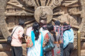 Indians tourist at the Konarak Sun Temple Stock Images