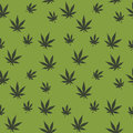 Indica and sativa marijuana leaves seamless vector pattern