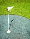 Indicador en golfcourse Imágenes de archivo libres de regalías