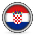 Indicateur de la Croatie de bouton Images stock