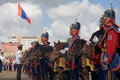 Indicateur mongol de cavalerie et de Mongolian Photos stock
