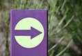 Indicator arrow direction on a path Stock Images