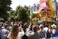 Indien festival ratha yatra at chatelet paris france sunday th of july people watching the chariot Stock Photo