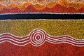 Indigenous Australian art Dot painting background