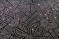 Indigenous Australian art Dot painting background Royalty Free Stock Photo