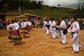 Indigenous community celebrating inti raymi inca ingapirca canar ecuador june unidentified people festival of the sun in ingapirca Stock Images
