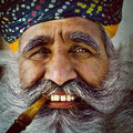 Indigenous Senior Indian Man Looking at the Camera Concept Royalty Free Stock Photo