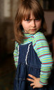 Indignant little girl Royalty Free Stock Images