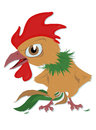 Indignant rooster Stock Photos