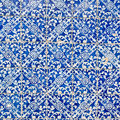 Indigo blue tiles floor ornament collection colorful moroccan portuguese azulejo ornaments can be used for wallpaper poster Royalty Free Stock Image