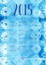 Indigo calendar boho styled with an texture as background week starts on sunday Royalty Free Stock Image