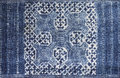 Indigo dyed batik cloth blue made by red dao in sapa vietnam Royalty Free Stock Photos