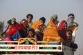 Indische leute auf einem lkw Lizenzfreies Stockbild