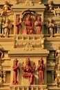 Indische Tempelstein Carvings Stockfotografie
