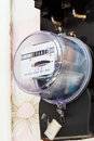 Individual electricity supply meter Royalty Free Stock Photo