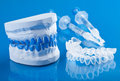 Individual set for teeth whitening a Stock Photo