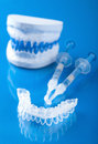 Individual set for teeth whitening tooth Stock Photo