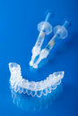 Individual tooth tray for whitening Royalty Free Stock Photography