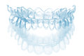 Individual tooth tray for whitening isolated an Royalty Free Stock Photography