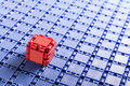 Individuality of abstract building blocks Royalty Free Stock Image