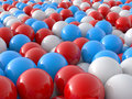 Individuality balls 3d Stock Photos